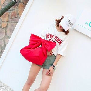 Red Bow Statement Bag